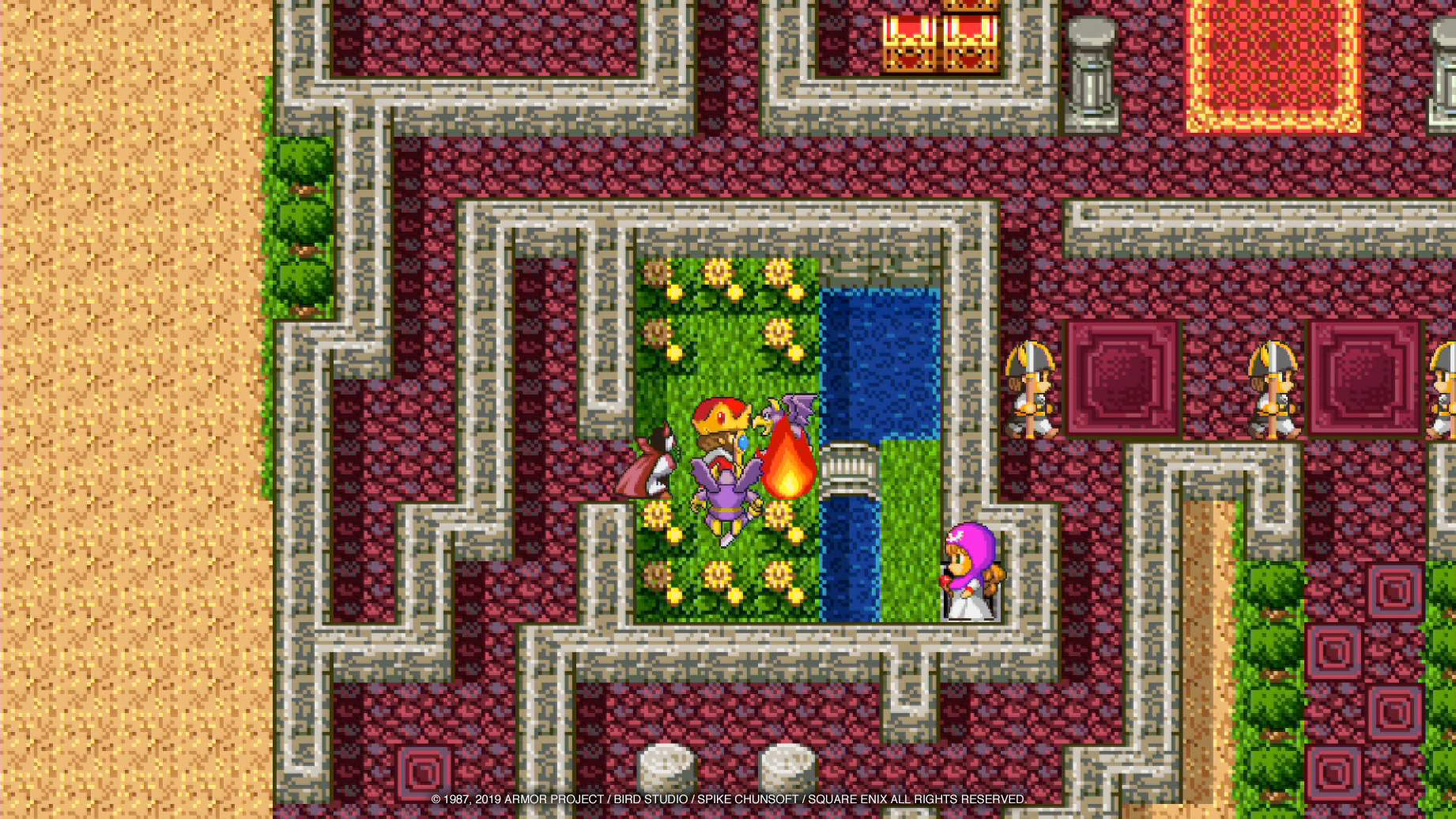 The king is attacked by monsters in the castle.
