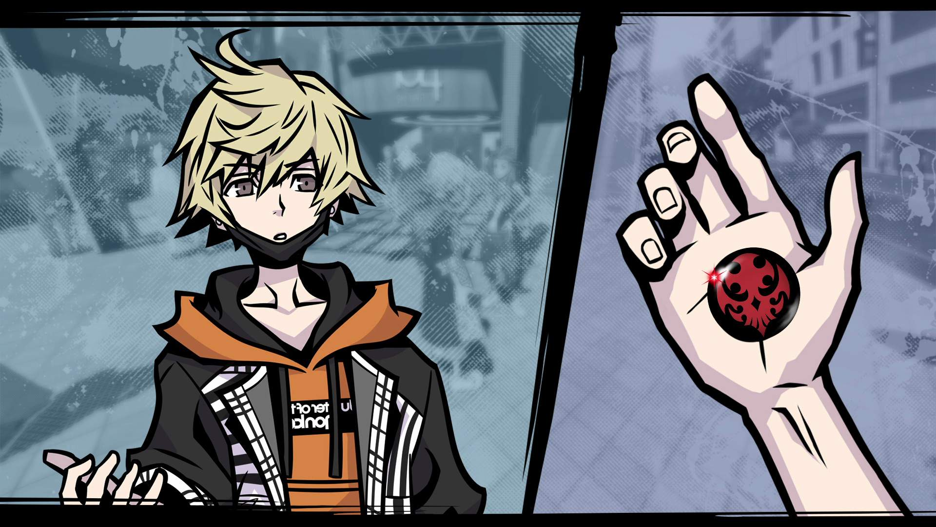 NEO: The World Ends with You hero Rindo holding a pin