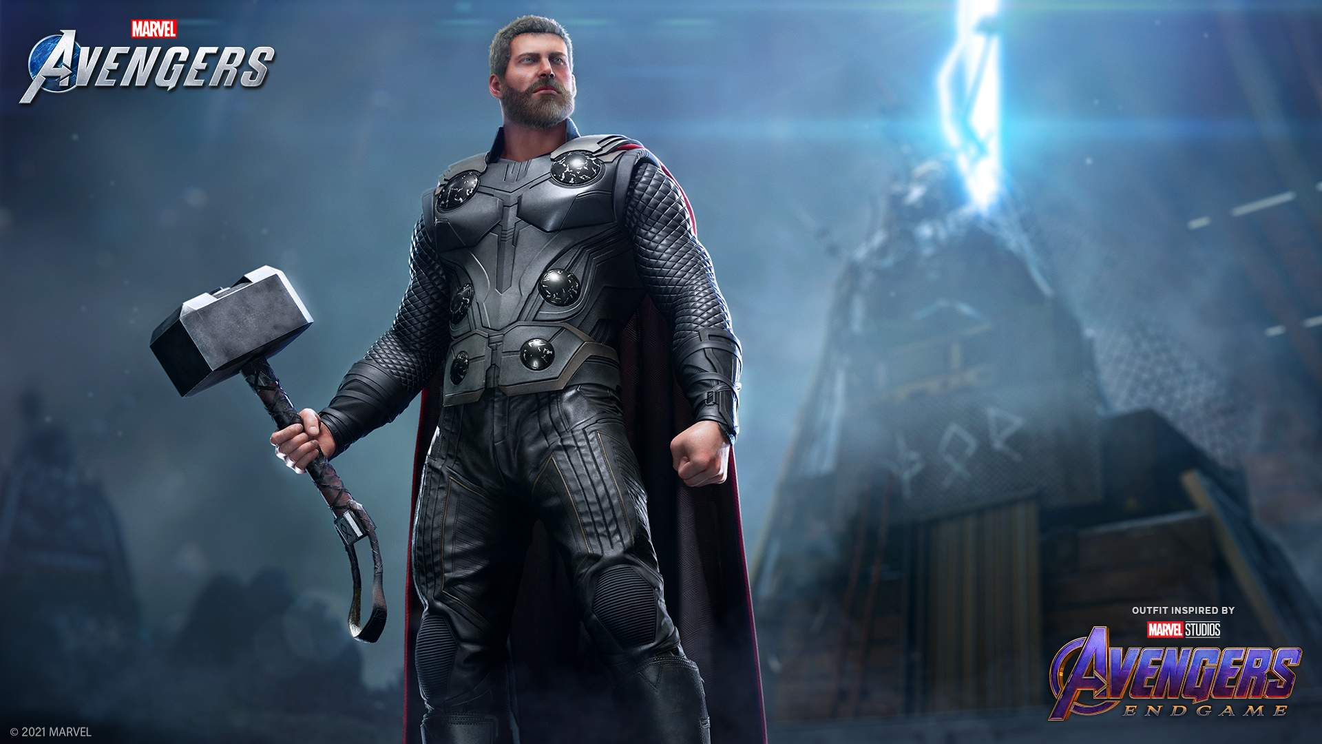 Thor in his Marvel Cinematic Universe Endgame Outfit.