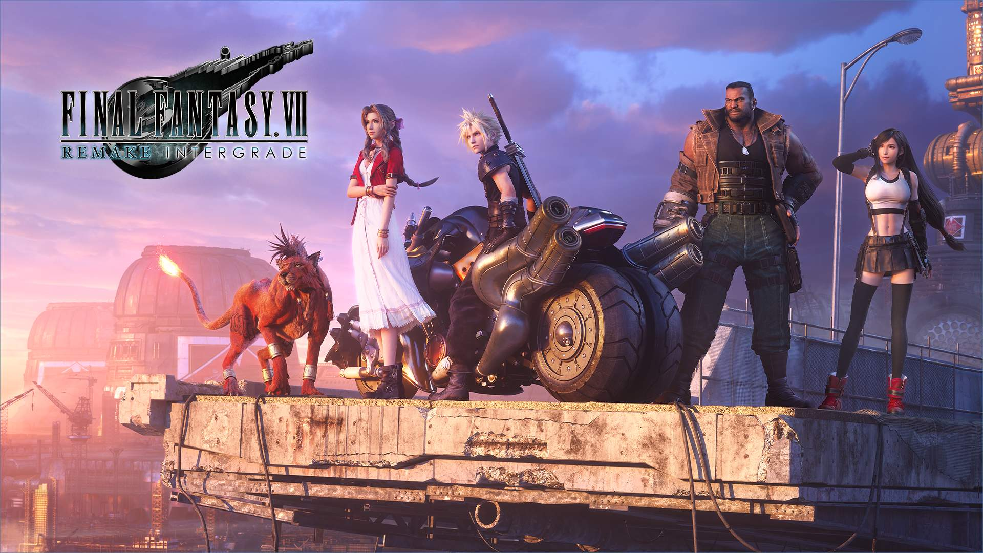 Red XIII, Aerith, Cloud, Barret, and Tifa in FINAL FANTASY VII REMAKE INTERGRADE