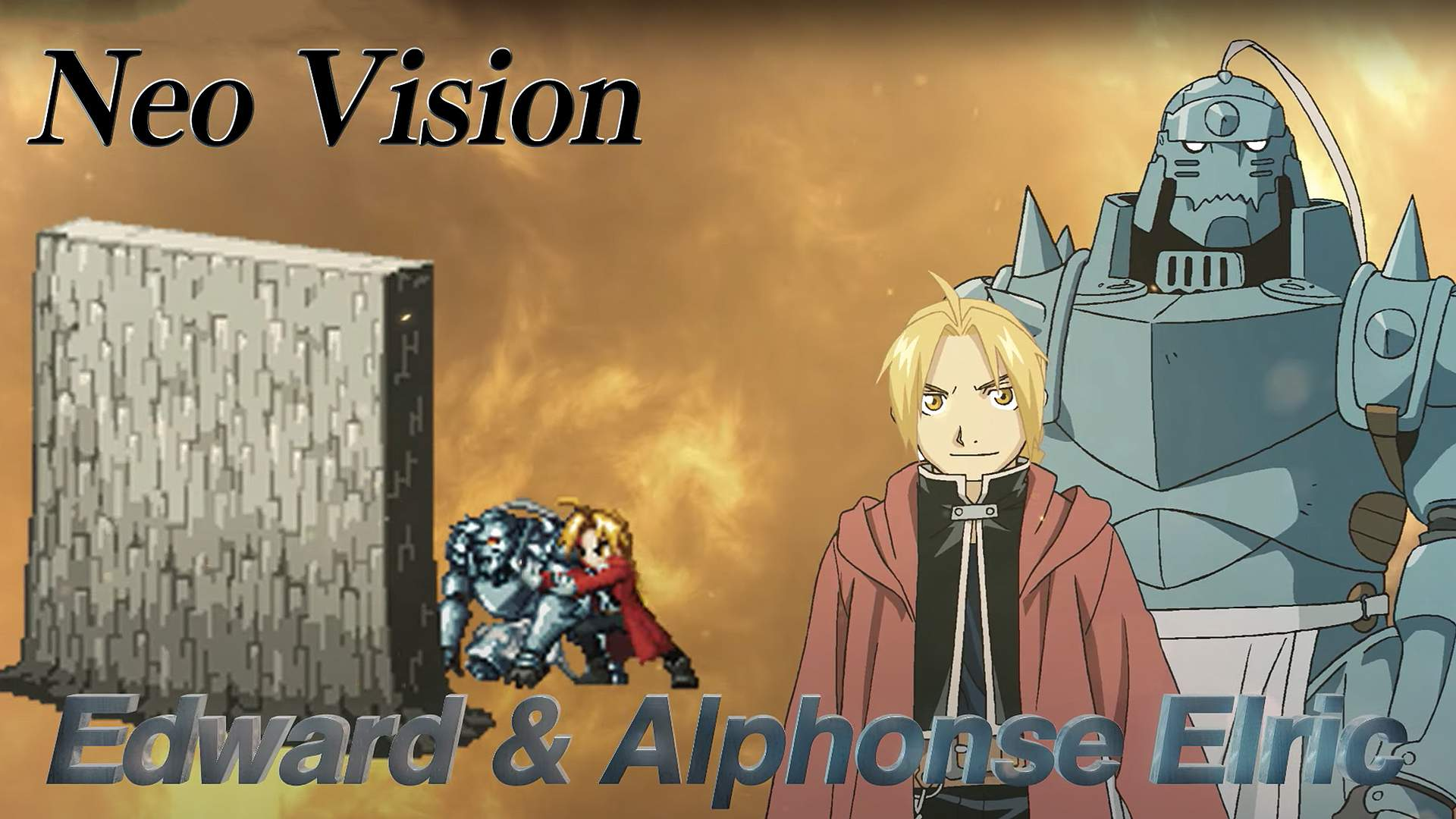 Edward & Alphonse Elric from FULLMETAL ALCHEMIST BROTHERHOOD, featured in FINAL FANTASY BRAVE EXVIUS